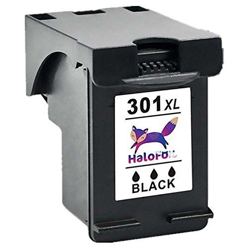 HaloFox 1 Cartuccia Inchiostro Ricaricabile 301XL Nero 301 XL Sostituisci per HP DeskJet 1010 1050a 1510 2050 2510 2540 3050 OfficeJet 2620 All-in-One Stampante Envy 4508 5530 5532 5534 OfficeJet 4630 4636 e-All-in-One Stampante