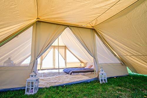 Touareg Bell Tent Awning 100% Cotton Canvas Use with Touareg Bell tent or Freestanding