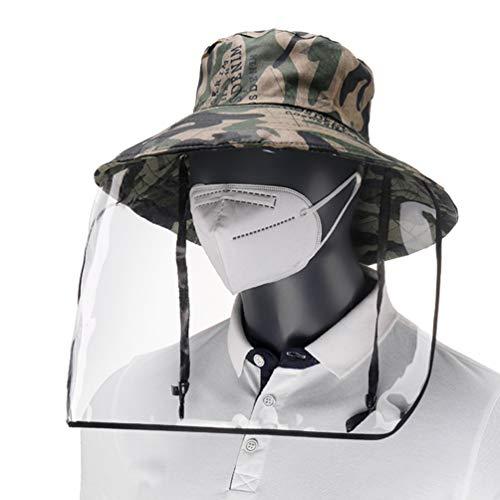 Artibest - Gorro de protección con escudo facial desmontable impermeable, protección completa, antivaho y protección para el sol, para viajes al aire libre, trabajo, escuela, camuflaje
