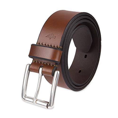 Dockers Cinturón casual de cuero para hombre, Bronceado, 36