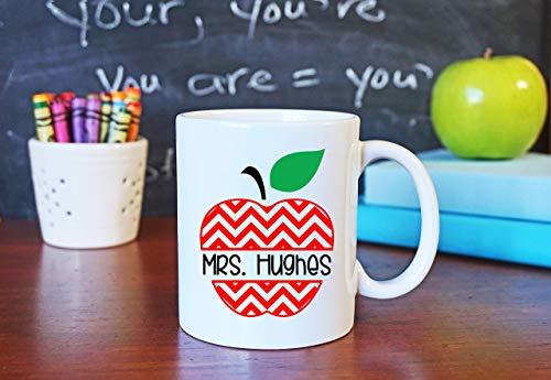 N\A Taza de café de Apple Teacher Taza de café de Apple, Regalo de graduación Escolar, Taza de Regreso a la Escuela