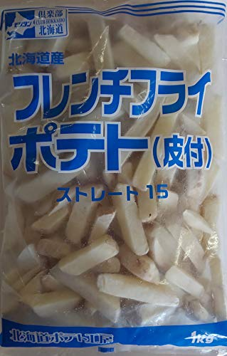 北海道産 フレンチ フライ ポテト( 皮付 ) ストレート 1kg×10P 業務用 冷凍