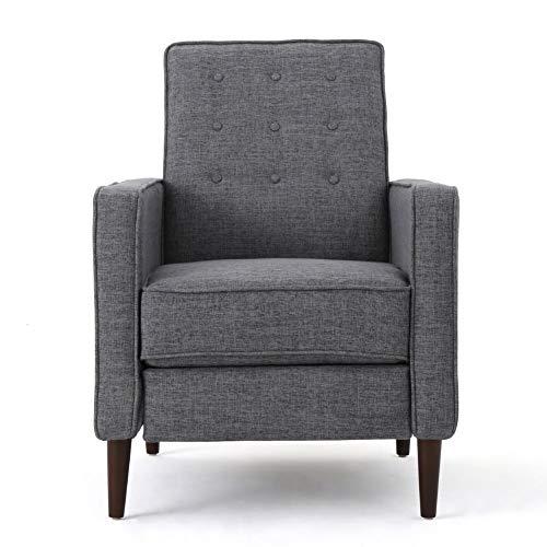 Christopher Knight Home Mervynn Mid-Century Modern Fabric Recliner, Grey