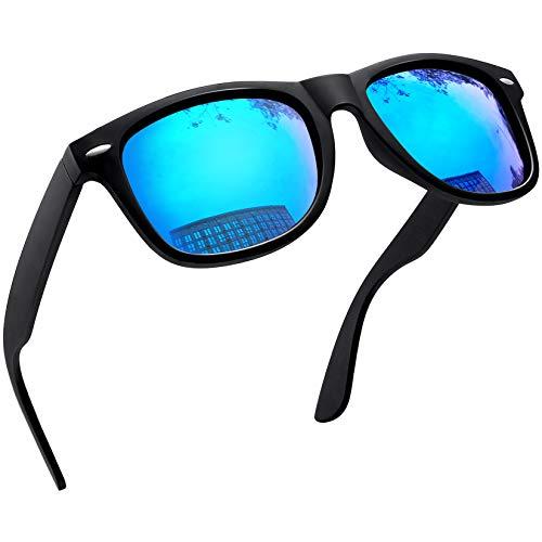 Joopin Gafas de Sol Polarizadas Hombre Retro Clásico Gafas Protección UV400 Ventage Original Mujer 100% Colección de Diseñador Azul