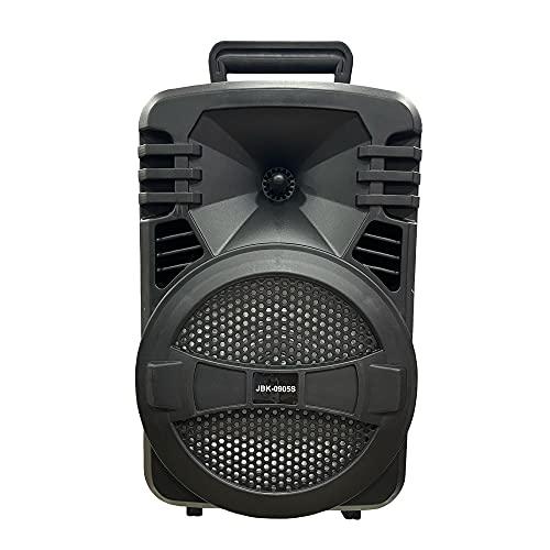 Altavoz Bluetooth Grande de Inalámbrico con Karaoke 8' 1000 Watt |Sintonizador Radio FM, Batería Interna de 1800mah, Potente Altavoz Y Puerto USB (JBK)