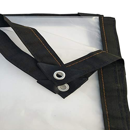 Bâche Bâche imperméable transparente en plastique - Couverture de qualité supérieure en bâche de 200 g/mètre carré (taille : 2MX6M)