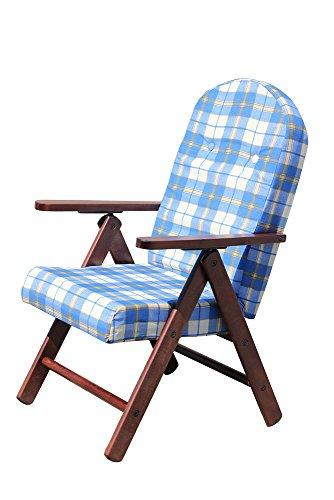 sedia sdraio in legno POLTRONA SEDIA SDRAIO AMALFI COLORE VERDE in legno reclinabile 4 posizioni cuscino imbottito soggiorno cucina salone divano