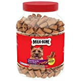 Contains (2) 40 Ounce boxes of Dog Treats for Dogs of all sizes Wholesome, delicious treats that you can feel good about giving Made with real bone marrow and natural bacon flavor Rich in calcium to help maintain strong teeth and bones Produced in Bu...