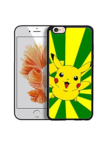 Pokemon Pikachu Coque Case, Iphone 6/6s 4.7 inches Coque Case Game Pokemon Pikachu Logo High Impact Protection Exact Fit Iphone 6/6s 4.7 inches Cell Retour Shell couvrir Pokemon Pikachu Present pour Garçons