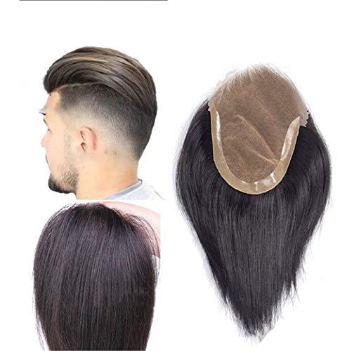 20,3 cm Quiff rückwärts Spitze Echthaar Toupet Topper Haarteil für Männer mit dünnem Haar