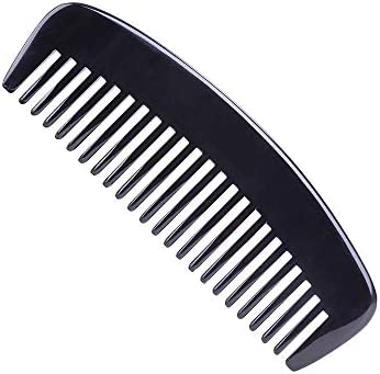 Exquisite Natural Ox Horn Hair Comb Wide Tooth Detangling Comb 100 Handmade Premium Quality product image