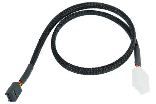Phobya Durchflusssensorkabel 3 Polig 40cm - Schwarz gesleevt Wasserkühlung Überwachung