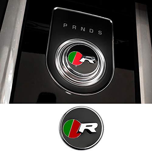D28JD Logo-Emblem für das Auto Schaltknauf Abdeckung Metallbuchstaben Aufkleber für J-aguar F-PACE XE XF XFL XEL,R