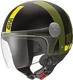 GIVI 10.7 Mini-J Concept Casco a getto Nero opaco/Verde L (60)