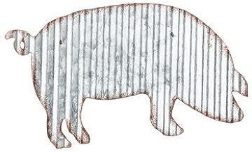 Wicked Chick Design Corrugated Metal Pig Wall Farmhouse or Farm Decor