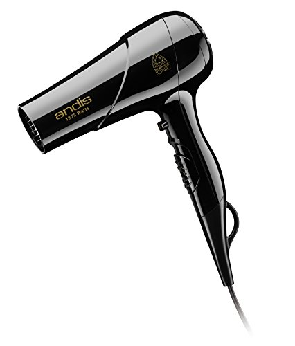 Andis 80695 1875-Watt Tourmaline Ceramic Ionic Styling Hair Dryer, Black