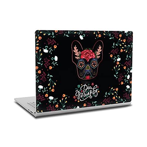 Head Case Designs sous Licence Officielle Klaudia Senator Le Jour De La Morte Bulldog français Vinyle Autocollant Peau Autocollant Couverture Compatible avec Microsoft Surface Book 2