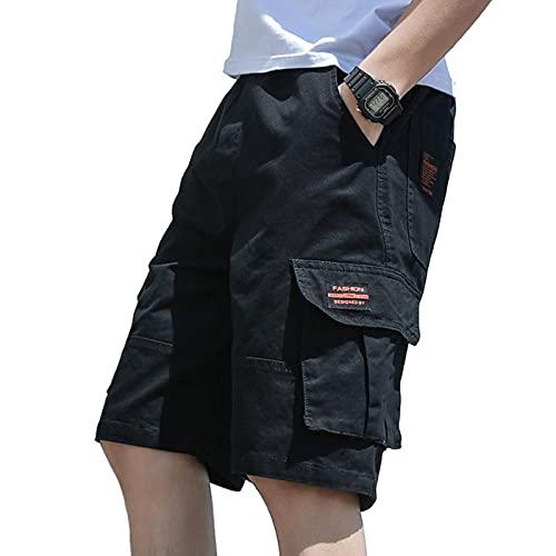 Q&M Pantalones Cortos de Carga para Hombre Camuflaje Aire Libre Corto Shorts con Multi-Bolsillo