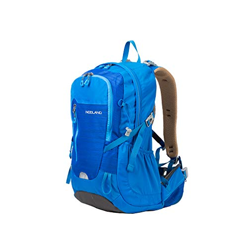 NODLAND Hiking Backpack, 35L Waterproof Outdoor Camping Backpack, Travel Bag with Rain Cover Blue