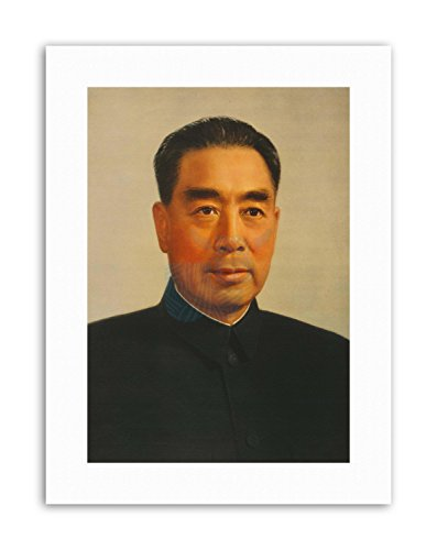 Wee Blue Coo LTD ZHOU ENLAI Chinese Premier Mao Communist China Poster Painting Portrait Canvas
