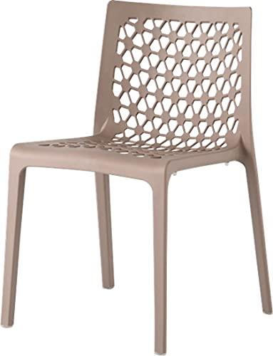 Lagoon, Milan - Set de 2 sillas 7053. Silla Inyectada en Polipropileno con Fibra de Vidrio de Alta Calidad. (2, Gris)