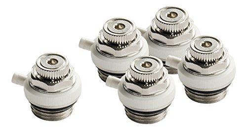 Automatische ontluchtingsventiel voor radiatoren, automatische ontluchtingsventiel voor verwarming, 5-delige set, meerhoekig ventiel, 1 x 2 ventiel