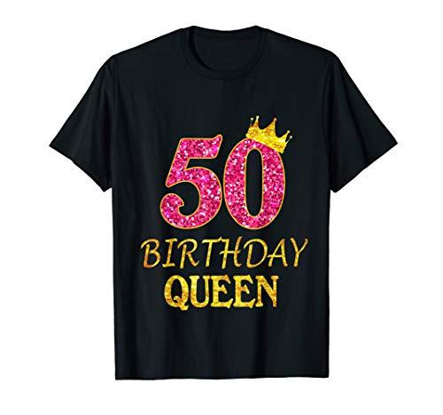 T-Shirt zum 50. Geburtstag Queen Geburtstag 50 Jahr Old T-Shirt
