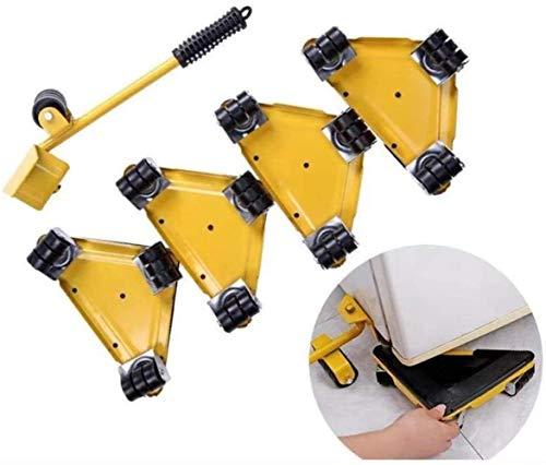 genneric 5PCS Heavy Duty Möbel Shifter Lifter, 360 ° Labor-Einsparung for Tisch Sofa Schrank (Color : Yellow)