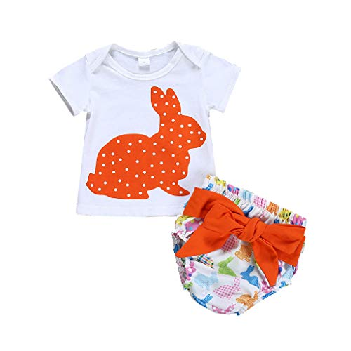 cover Bekleidungsset Baby Mädchen Jungen Osterhase Strampler + Shorts + Mutze Ostern Kleidung