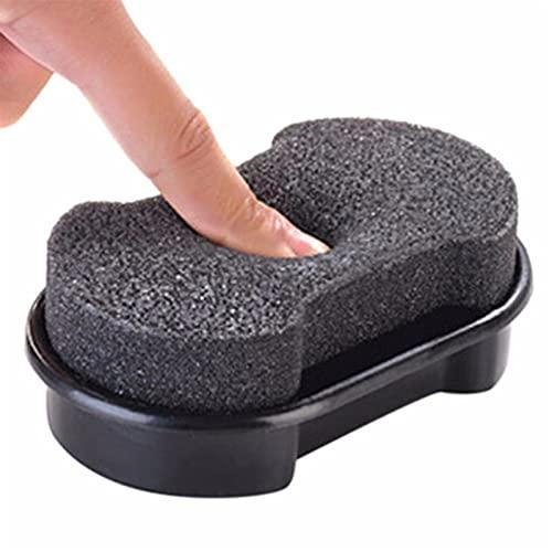 letaowl Cepillo de Zapatos, Sofá Zapatos de Brillo rápido Cepillo Limpiador de Cuero Pulido de Cuero Limpieza Líquido Cera Luminoso Pulidor de Esponja Zapato Bota 1pc (Color : Black)