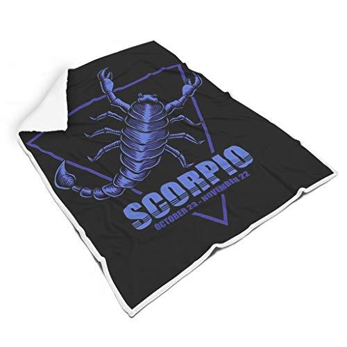 Scorpione Zodiac - Coperta in peluche, dai colori vivaci, per camera da letto, per bambini o adulti, stile casual 50x60 inch Infradito colorati estivi, con finte perline