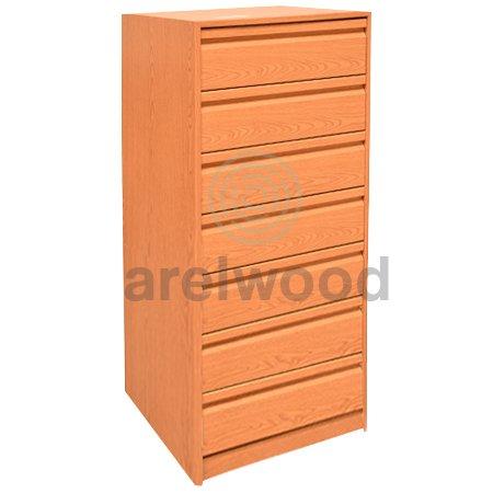 arelwood Cajonera para Armario Wengue Montada 50X50-7 Cajones. Alto 121,3 cm.