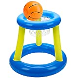 Uarzt Floating Pool Basketball Hoop, Inflatable Hoop with Ball for Kids, Kids Swimming Pool Game Toys, Summer Water Sports Fun Floats with Pump, Water Play and Shootball for Children Adults