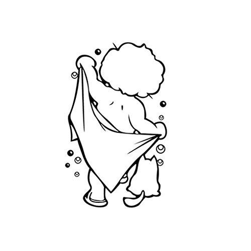 Fangfeen Dusche Removable PVC wasserdicht Hauptraum-Dusche Aufkleber-Dekor-Wand-Aufkleber WC-Tür-DIY lustiges Badezimmer Glas-Aufkleber