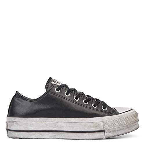 Converse 562910C Limited Edition CTAS Lift Black Black - Zapatillas de Piel con Cordones
