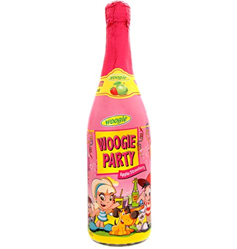 Succo di Mela e Fragola Gassato | Woogie Party Apple | 3 Bottiglie 75 cl | Kids DrinK | Bevanda Analcolica per Bambini