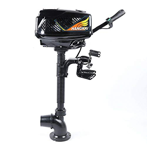 Electric Outboard Motor, 48V 4HP 1000W Jet Pump Outboard Trolling Motor Heavy Duty Boat Engine for Canoe Kayak Inflatable Fishing Boat Small Yacht