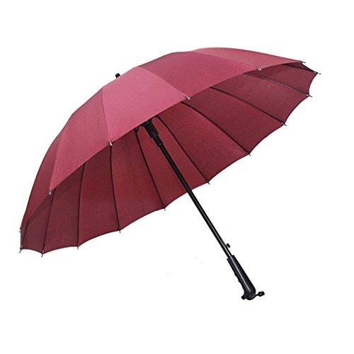 YNHNI Paraguas de Mango Largo 16 Paraguas de Refuerzo óseo/Paraguas Recto/Lluvia/de Negocios Dual/Hombres y Mujeres Paraguas de Negocios,Portátil