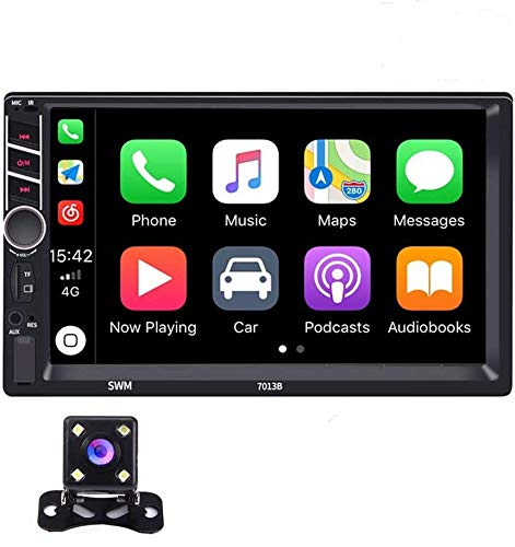 Riiai 7 Inch Double Din Car Stereo,Car Entertainment Multimedia System Automodz Apple CarPlay Double...