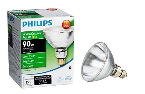 Philips 419382 EcoVantage PAR38 90 Watt Equivalent Dimmable Spot Standard Base Light Bulb (E26 base)