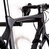 Bike Stix Soporte de Pared para Bicicleta Hecho de Roble y Cuero: el diseño del Soporte para Bicicleta es Minimalista y Elegante para Bicicletas de Carrera, Bicicletas y MTB