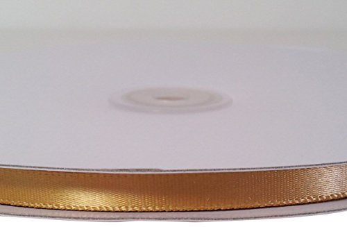 Firefly Imports Homeford Single Face Satin Ribbon, 1/4-Inch/100-Yard, Antique Gold