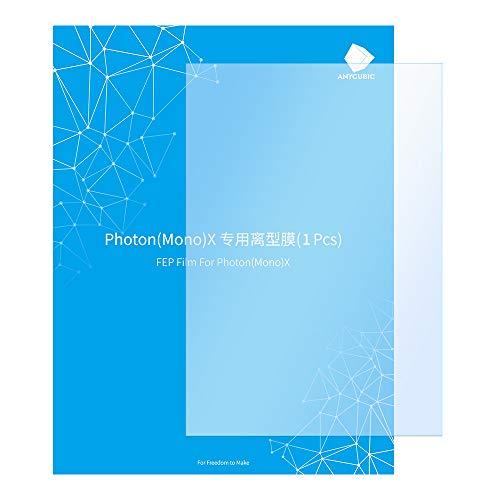 ANYCUBIC 1 película FEP de 8,9 pulgadas, 260 x 175 x 0,15 mm, lámina de repuesto para impresora 3D Photon Mono X/Photon X UV LCD SLA