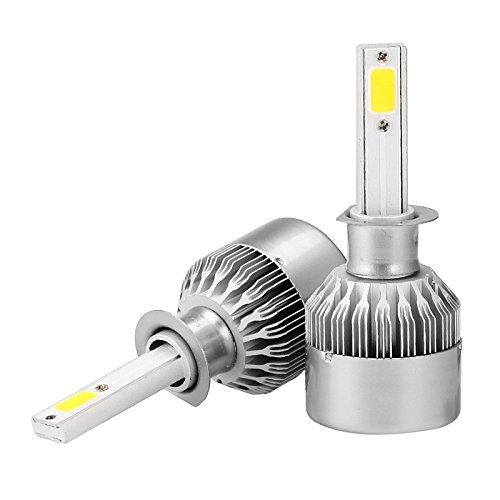 ZGMA 2pcs H1 Automatique Ampoules électriques 36W COB 3600lm Lampe Frontale White H1