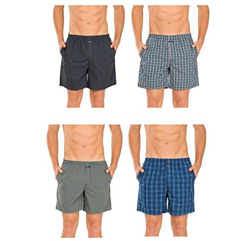 Jockey Men's Cotton Boxers (Pack of 4) (Bloom748_Color May Vary_Large)