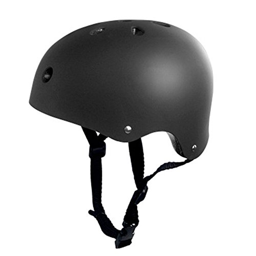 Casco para ciclismo al aire libre, para niños, scooter, patines, casco para adultos y niños (negro), color negro, tamaño Large