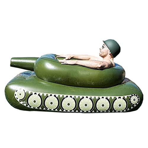 Flotador inflable para piscina con pulverizador, flotador de agua para adultos, juguete de verano