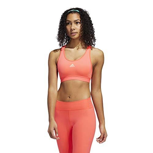 adidas womens Believe This Bra Signal Pink/Light Orange Large