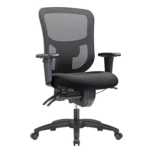 WorkPro 9500XL Big and Tall Mesh Mid-Back Multifunction Office Chair, Black