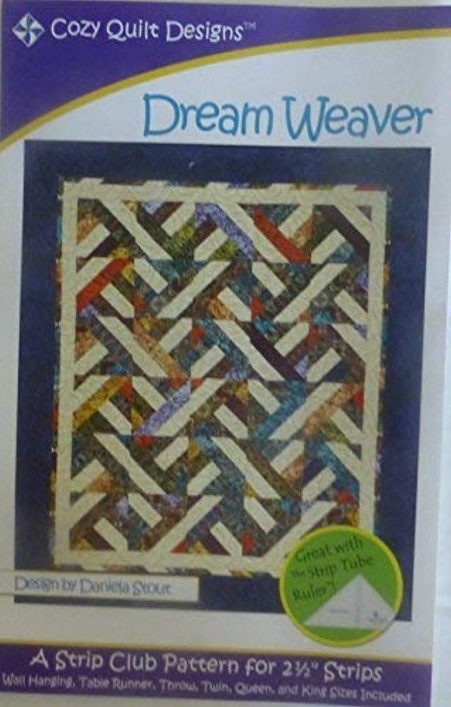 Pattern Dream Weaver Using 2 and One Half Inch Strips Cozy Quilt Design